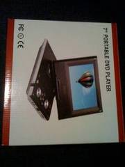 7`` Portable DVD Player New In Box