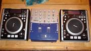 CD Turntables and mixer