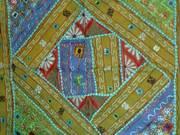 Beautiful Blue and Green Tapestry from India