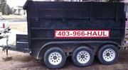 3 AXLE end dump trailer for hire /rent !!!!