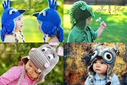 Crochet animal hats for babies,  kids,  teens and adults