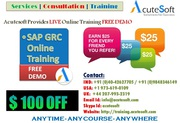 SAP GRC Online Training by AcuteSoft with 10  years SMEs.