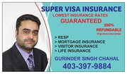 Super Visa Insurance  - lowest price - 403-397-9884