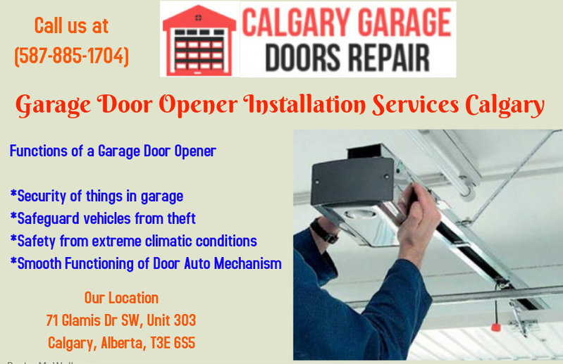 Garage Door Repair And Opener Installation Calgary