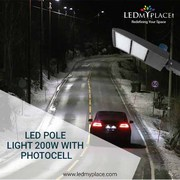 Use the IP65 Rated 200W LED Pole Lights for outdoor Lighting