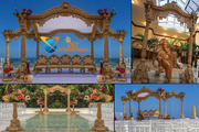Outdoor Theme Wedding Wooden Mandap LA