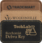 Custom Leather and Plastic Name Badges Calgary